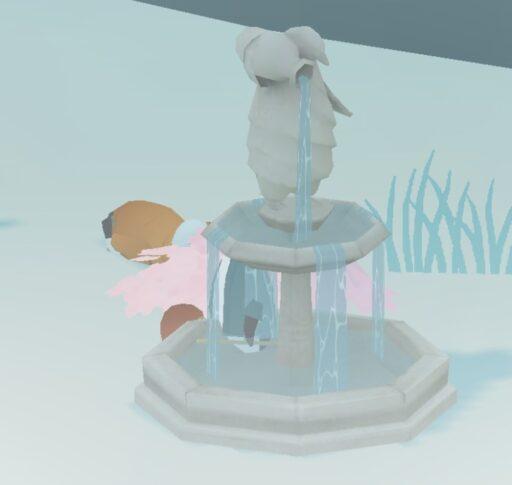 噴水ペンギン像
